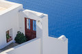Doorway that goes to nowhere on Santorini island Royalty Free Stock Photo