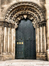 Doorway of Ourense cathedral Stock Photo