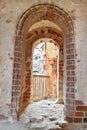 Doorway to the balcony Royalty Free Stock Photo