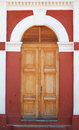 Doorway to old train station in granada a the nicaragua Royalty Free Stock Image