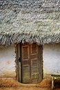 Doorway to Thatched Hut Stock Photography