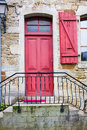 Doorway in a village of france Stock Images