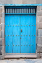 Doorway vintage blue Peru
