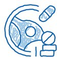 Dope Driving Doodle Icon Hand Drawn Illustration