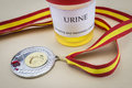 Doping in sport concept urine test confirms the cause Royalty Free Stock Image