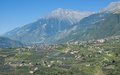 Dorf tirol south tyrol trentino dolomites italy view from schenna to near merano alto adige Stock Image