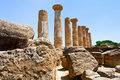 Dorian columns of Temple of Heracles Royalty Free Stock Photography