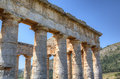 Doric temple in segesta sicily italy Royalty Free Stock Photos