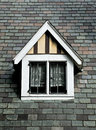 Dormer image of tudor style Stock Photo