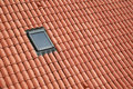 Dormer roof from red ceramic tiles with Stock Photography