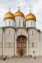 Dormition cathedral in moscow kremlin russia july front view of from sobor square russia on july it is oldest fully Stock Photos