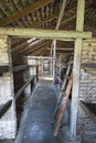 Dormitory inside the birkenau camp Stock Photography