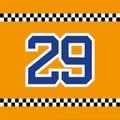 Dorsal number 29