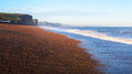 Dorset coast uk freshwater beach bridport at sunrise Royalty Free Stock Photos