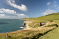 Dorset coastal path. Dancing Ledge