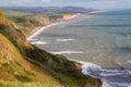 Dorset coastline looking towards West Bay Stock Photography
