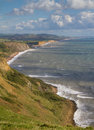 Dorset coastline looking towards West Bay Royalty Free Stock Photo