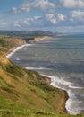 Dorset coastline looking towards West Bay Royalty Free Stock Photos