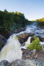 Dorwin waterfall in rawdon quebec canada Stock Photos