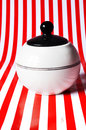 Dose retro on the striped background Royalty Free Stock Photo