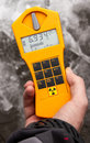 Dosimeter radiation measurement instrument photo taken at chernobyl nuclear power plant Stock Photos
