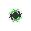 Dot circle vector logo