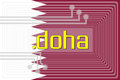 Dot doha domain name illustration of internet address Royalty Free Stock Images