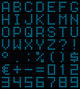 Dot-matrix font Royalty Free Stock Photo