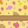 Dot pattern card design Royalty Free Stock Photos