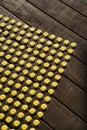 Dot pattern on wood. Stock Photo