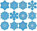 Dot Snowflakes Royalty Free Stock Photo