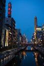 Dotonbori canal in osaka japan may artificially dug located the area this area is very popular among tourists here are Stock Image