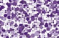 Dotted background with circles, dots, point different size, scale Halftone pattern Purple, violet color Vector illustration