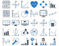 Dotted Charts Icons Royalty Free Stock Photo