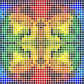 Dotted colorful rainbow mosaic (seamless pattern) Royalty Free Stock Photo
