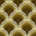 Dotted geometric pattern in art deco style Royalty Free Stock Photo