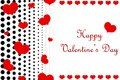 Dotted Happy Valentine`s Day background. Royalty Free Stock Photo