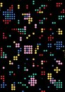Dotted panel. Abstract technological background