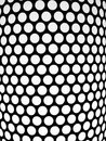 Dotted pattern detail of a lampshade black and white Royalty Free Stock Photo