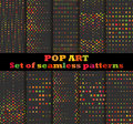 Dotted, Pop Art seamless pattern background. Pop art dotted retro style patterns.