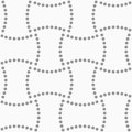 Dotted rectangles abstract geometric background gray seamless pattern monochrome texture Royalty Free Stock Images
