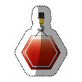 Dotted sticker crane hook with hexagon of road sign red Royalty Free Stock Photo