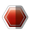 Dotted sticker hexagon of road sign red Royalty Free Stock Photo