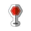Dotted sticker hexagon road sign red Royalty Free Stock Photo