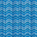 Dotted waves, abstract blue dotted pattern Stock Photography