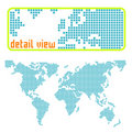 Dotted world vector Stock Photo