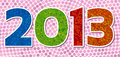 Dotted year 2013 Stock Images