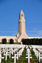 Douaumont ossuaire memorial in verdun france word war one Stock Photo