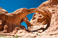 Double Arch, Arches national park Royalty Free Stock Photography