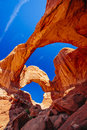 Double Arch in Arches National Park, Utah, USA Royalty Free Stock Photo